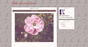 Little Red Riding Hood ~ Free Blogger Template by MsCassyK-Stocks