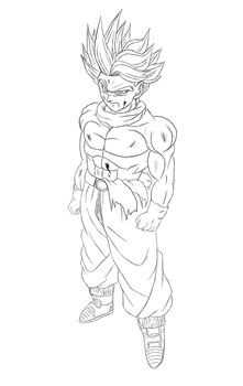 Trunten Super saiyan (GT Trunks +Goten) by Gothax