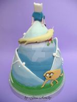 Adventure Time Cake back by ginas-cakes