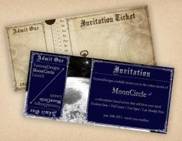 Free Printable Ticket Invitation by VectoriaDesigns