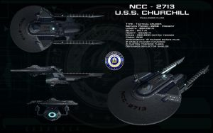 TMP Challenger class - USS Churchill by unusualsuspex