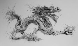 Water Dragon in pencil by Steve2656