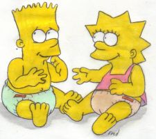 The Simpsons: Bart and Lisa by fredvegerano