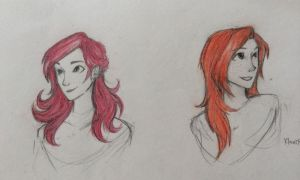 Lily and Ginny by ghoulkron