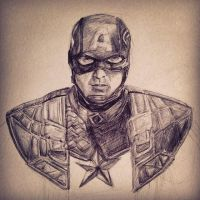 Captain America Steve Rogers by DetectiveDuckMan