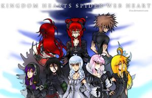 Spider Web Heart by 21as