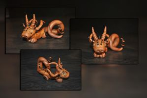 Baby Clockwork Bronze Dragon by KirstenBerryCrafts