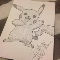 #025 - Pikachu by poke-dots