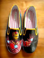 Iron Man shoes by Clairictures