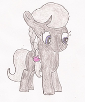 Silver Spoon Pony Drawing by SoraRoyals77