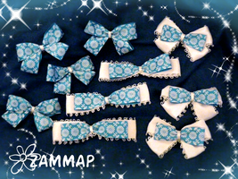 Frosty Blue Bows by zammap