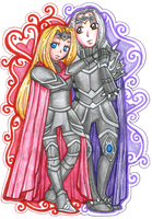 Taryn and Obsidian [COMMISSION] by sekaiichihappy