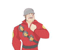 tf2: soldier by GirlZombie