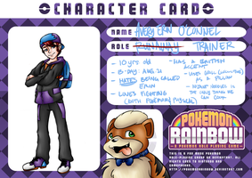 PKMNRainbow Character Card: Avery and Grill by shaolinfan1