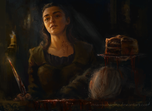 A Stark Smiling Down at You by Inna-Vjuzhanina
