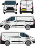 Ford Transit courier outline by fake173