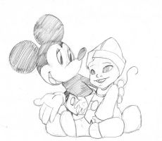 mickey mouse and friend by Darkstampede