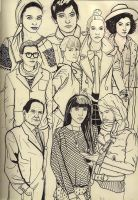 People sketches by KennySwanston