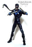 Nightwing custom figure with removable pony tail by SomethingGerman