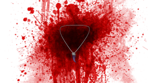 Bloody Fang Necklace by blazincheshirecat