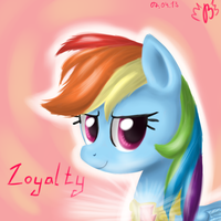 Rainbow Dash - Loyalty by BudgieFlitter