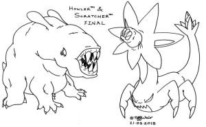 Howler and Scratcher FINAL *UNFINISHED* by trinityweiss