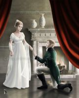Jane Bennet and Mr. Bingley by gppr