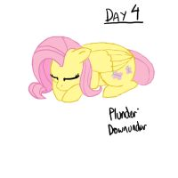 Day 4 Fluttershy by Plunder-Downunder
