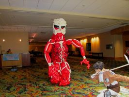 Colossal Titan Balloon Cosplay 2 by NoOrdinaryBalloonMan