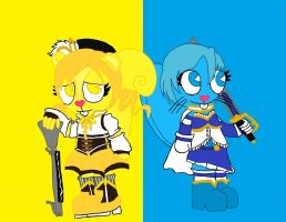 Mami and Sayaka htf by anolelightdragon