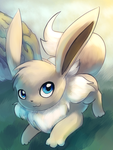 Shiny Eevee Painting by Togechu