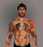 Derek Tattoo by Aredes