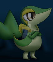 Vance the Snivy by DreamyNormy