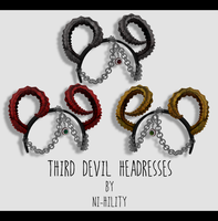 Third Devil Headress [ DL ] 1000w gift pt. 4 by ni-hility