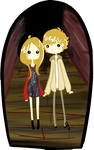 AHS- Tate And Violet by su-i-cide-kid