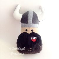 Stuffed Viking Warrior, Black Beard, Pillow Doll by Saint-Angel