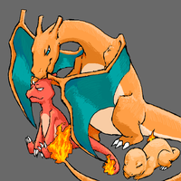 charizard family by earlgengar