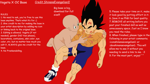 Vegeta X OC 2 Base by ShinanaEvangelian1