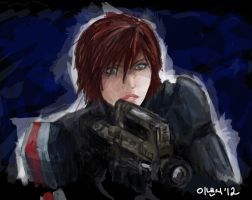 Mass Effect - FemShep by oranjielub