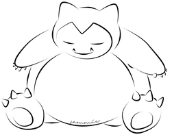 Snorlax by ensnarings