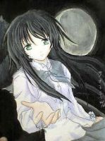 Girl with Moon by Saoko89