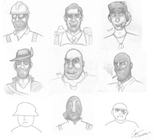 TEAM FORTRESS 2 BUSTS by MisterChris0123