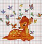 Bambi with Butterflies by MaryJoMcCormic