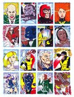 X-men sketchcards sample by augustustodopoderoso