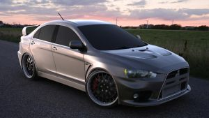 Lancer EvoX: HDRI render 2 by newbzyCG