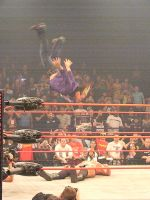 Hardy: Swanton Bomb on Morgan by KnightNephrite