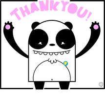 THANK YOU PANDA by armadilloboy