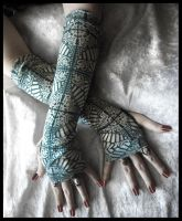 Cathedrals in Moss Arm Warmers by ZenAndCoffee