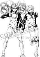 Commission: Yoeko's Atobe/Jirou JoJo's ver by scottwuming