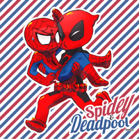 + Spiderman x Deadpool + by Bunny-Boss